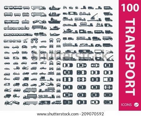 transportation icons   set of