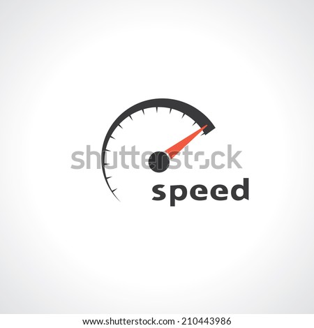 speedometer abstract symbol of