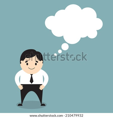 businessman with a thought