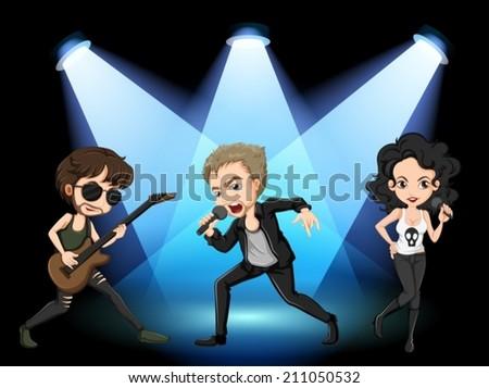 illustration of rock stars on