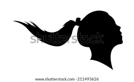 vector ponytail silhouette free vector download 5296 free vector for commercial use format ai eps cdr svg vector illustration graphic art design