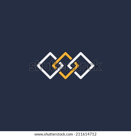 abstract unity symbol of three
