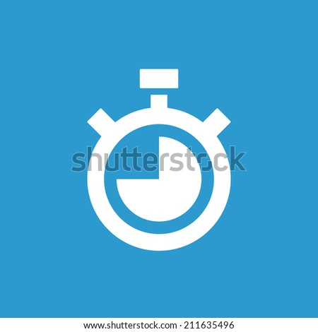 timer icon  isolated  white on