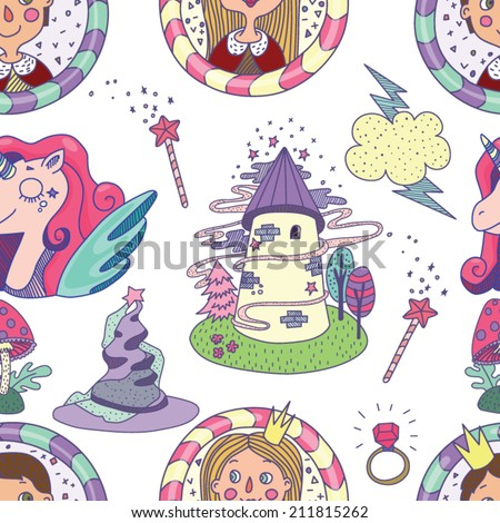 seamless fairy tale characters