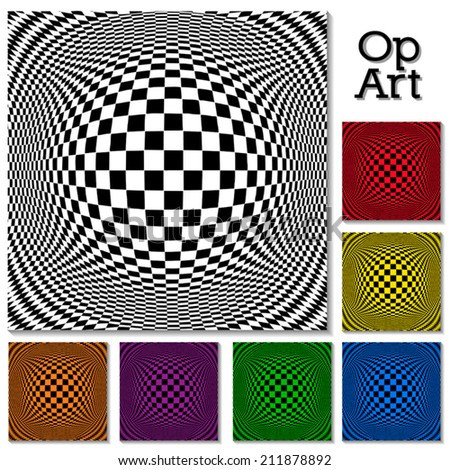 op art design pattern  black