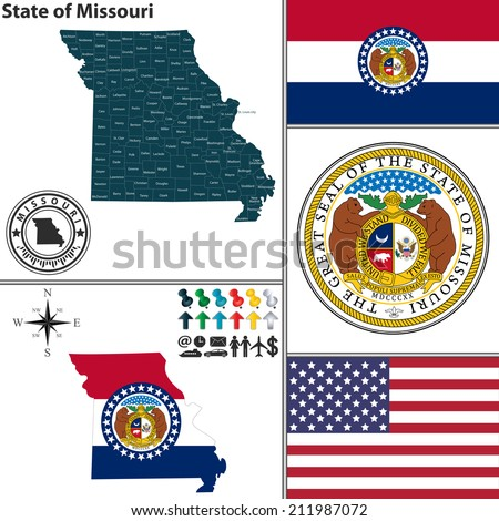 vector set of missouri state