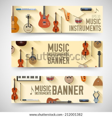 flat music instruments vertical