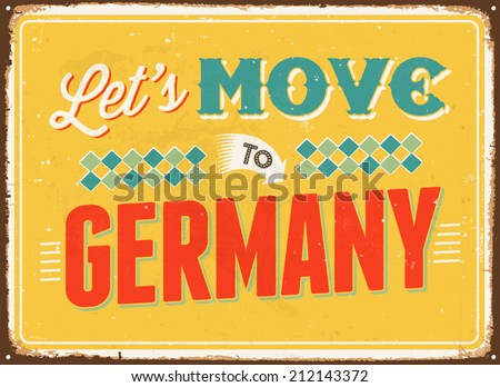 vintage metal sign   let's move