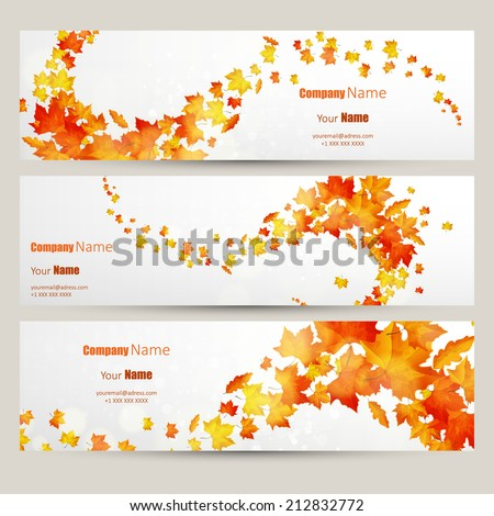 vector set of colorful autumn