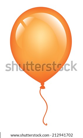 orange vector balloon