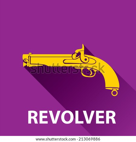 vector stylish orange revolver