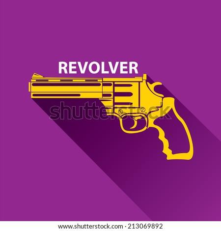 vector stylish orange revolver