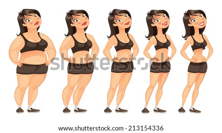 stages of weight loss of a