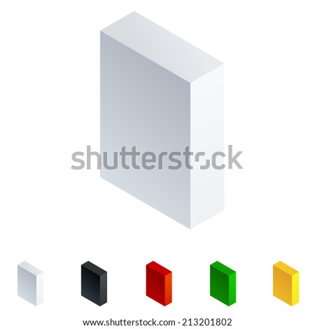 vector illustration of solid 3d