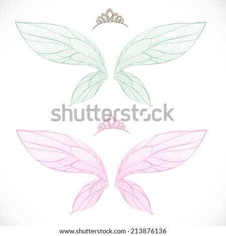 fairy wings with tiara bundled