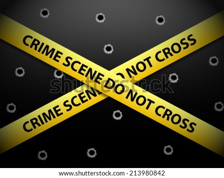 yellow crime scene tape on a