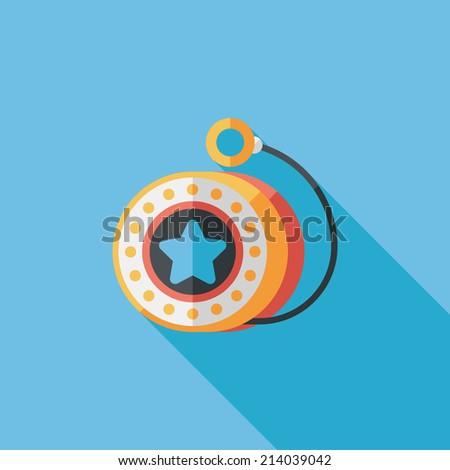 yo yo flat icon with long