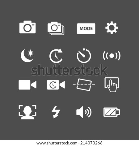 camera app icon set  each icon