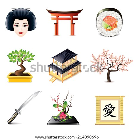 japanese culture icons photo