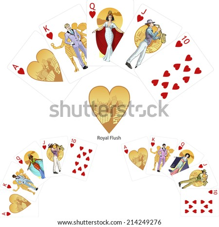 royal flush hearts poker