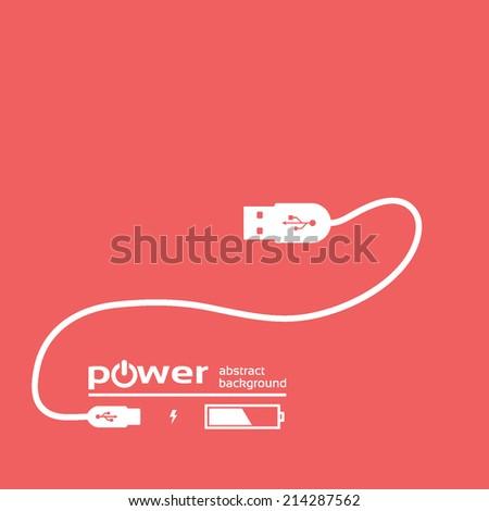 power concept background design