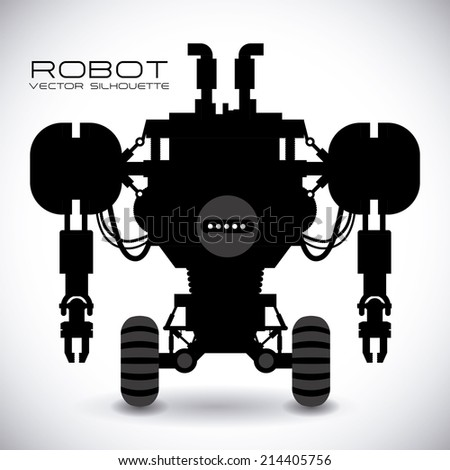 robot design over gray