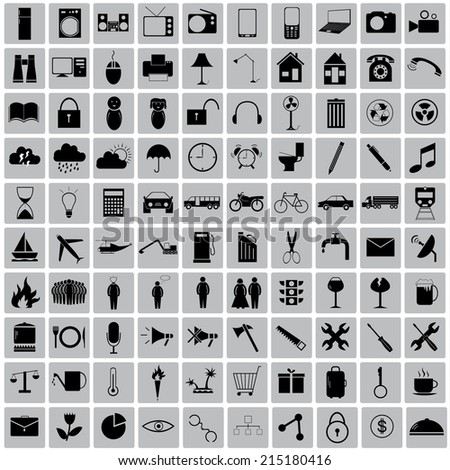 100  icon objects around us