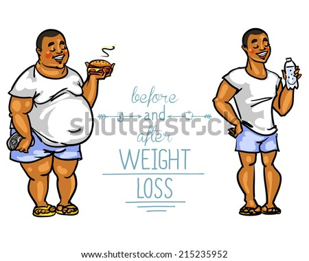 man before and after weight