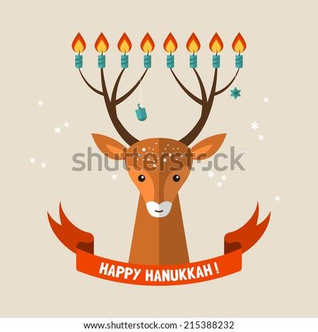 hanukkah holiday greeting card