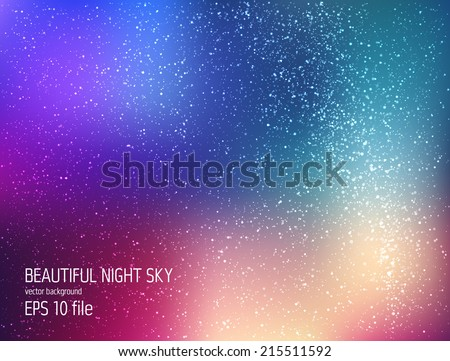 vector illustration   deep sky