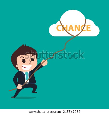businessman clutch of chance