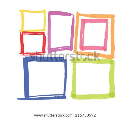 felt pen vector frames design