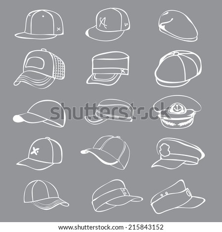 cap set isolated on hat icon