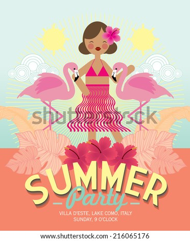 summer party template vector