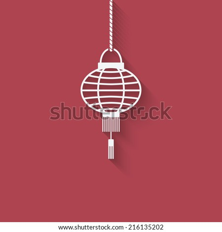 chinese lantern design element