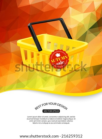 autumn sale background with