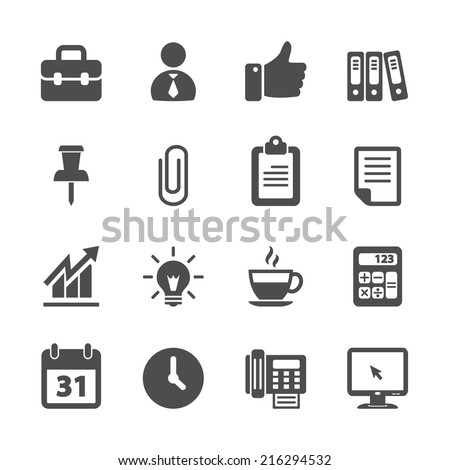 business and office work icon