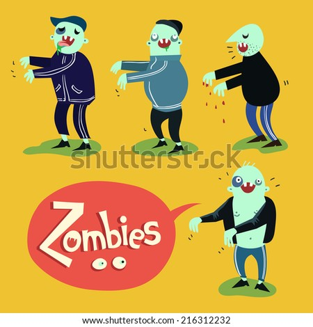 vector cartoon zombies