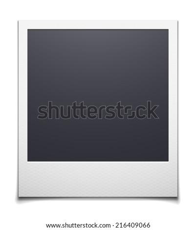 retro photo frame isolated on
