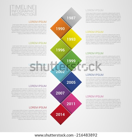 flat colorful abstract timeline