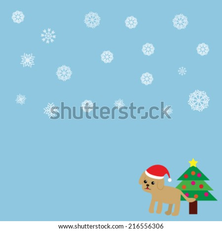 winter background with a santa