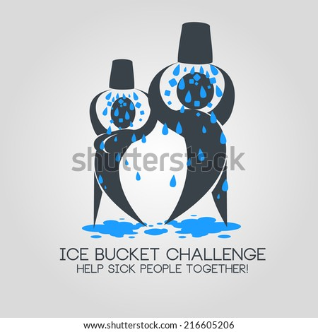 vector illustration ice bucket