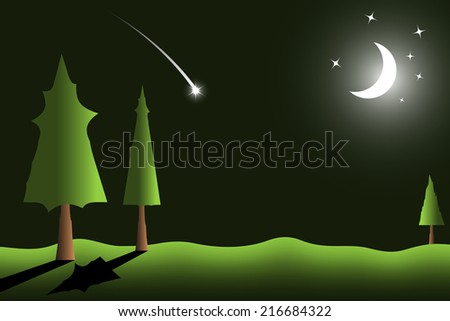 vector background of night