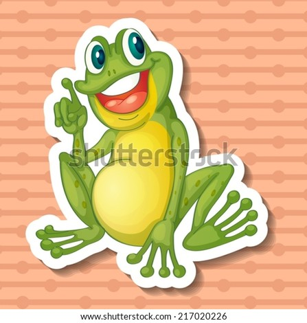 illustration of a single frog