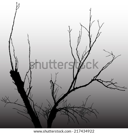 vector illustration  dark tree