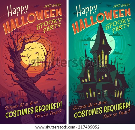 halloween poster   card