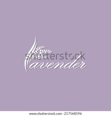 lavender label   vector