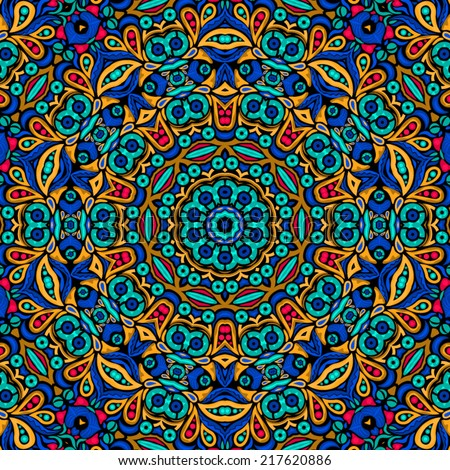 abstract floral psychedelic