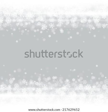 christmas light and snowflakes