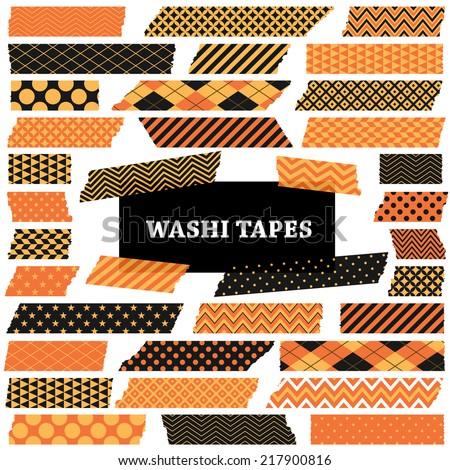 halloween washi tape strips
